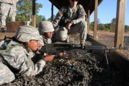 Cadets in rifle training