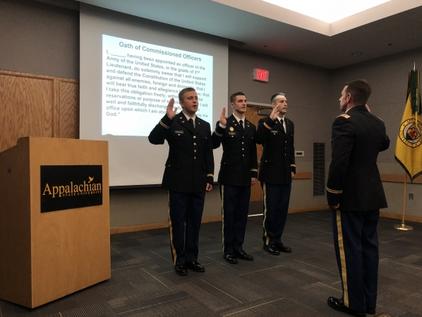 2LTs Castellano, DiMaio and Hughes sworn in