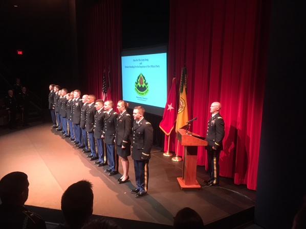 CPT Brown announces App's newest Army Officers
