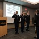 2LTs Castellano, DiMaio and Hughes sworn in