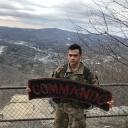 Cadet Dominguez with Tab on Howard Knob