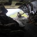 cadets aboard a CH-47 flight