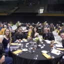 Table of Fun Cadets and Dates at Dining Out